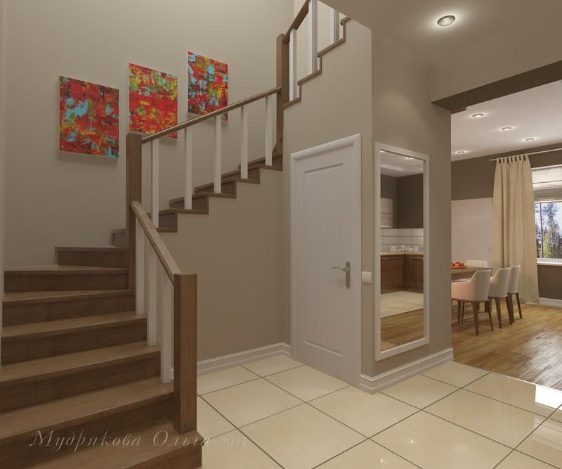 Дизайн лестницы в коттедже