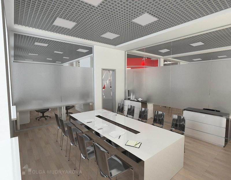 Дизайн интерьера переговорной в офисе