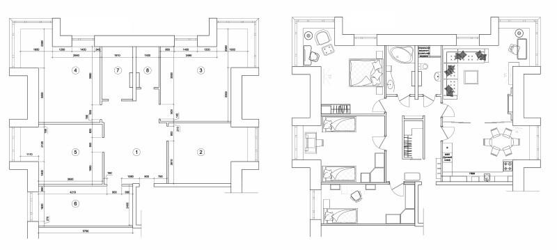 План четырехкомнатной квартиры