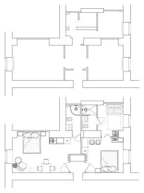 План расстановки мебели в аппартаментах