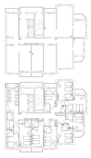 Этажный план расстановки мебели для отеля