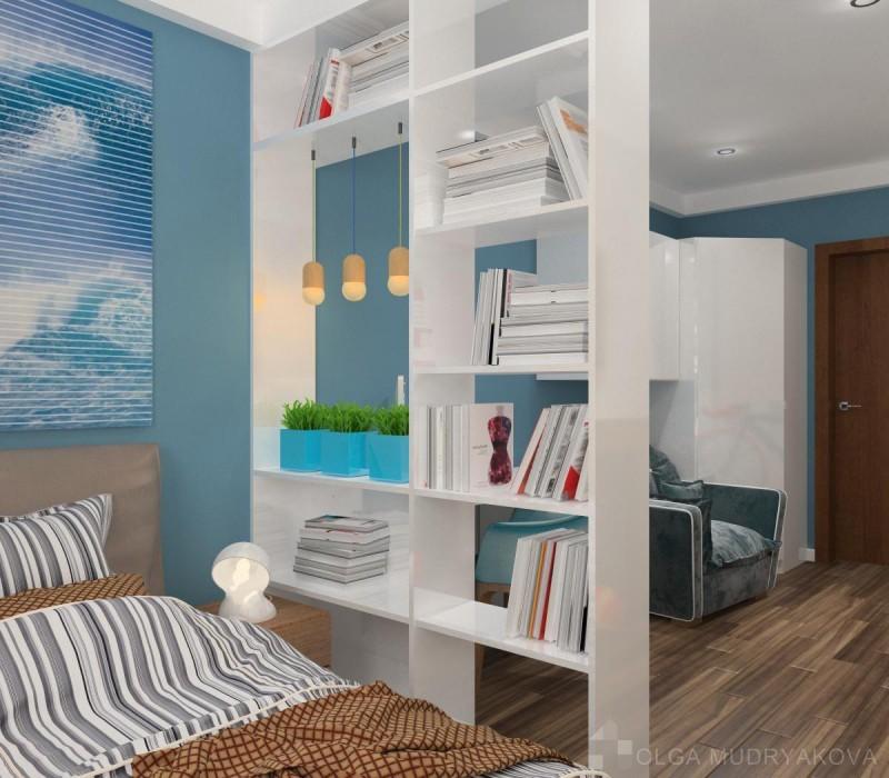 Спальная зона в детской
