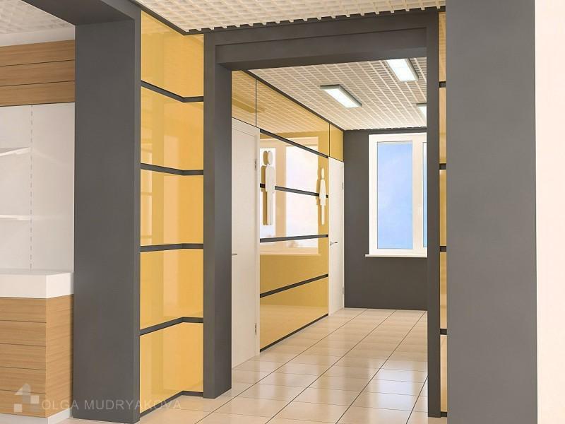Дизайн холла перед туалетом