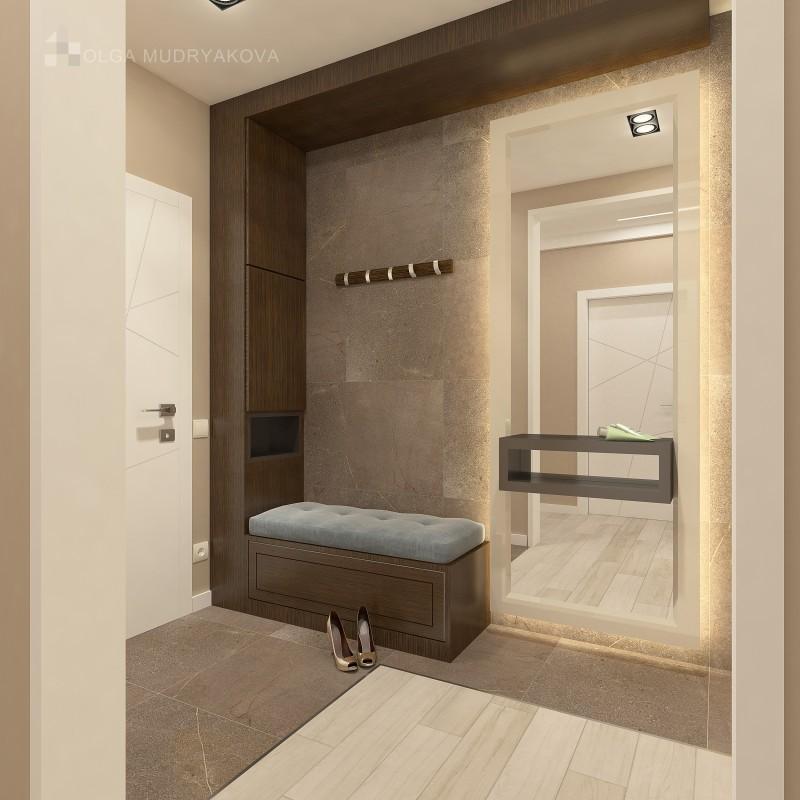 Дизайн интерьера холла в современном стиле