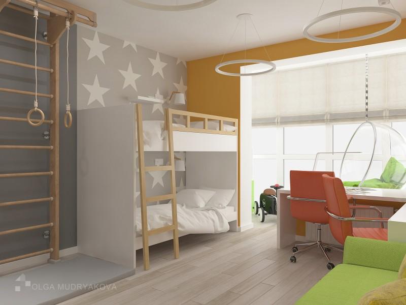 Спальное место для двух детей