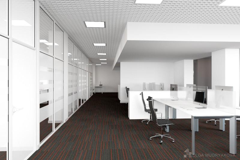 Установка стеклянной перегородки в офисе