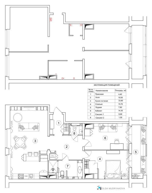 План расстановки мебели