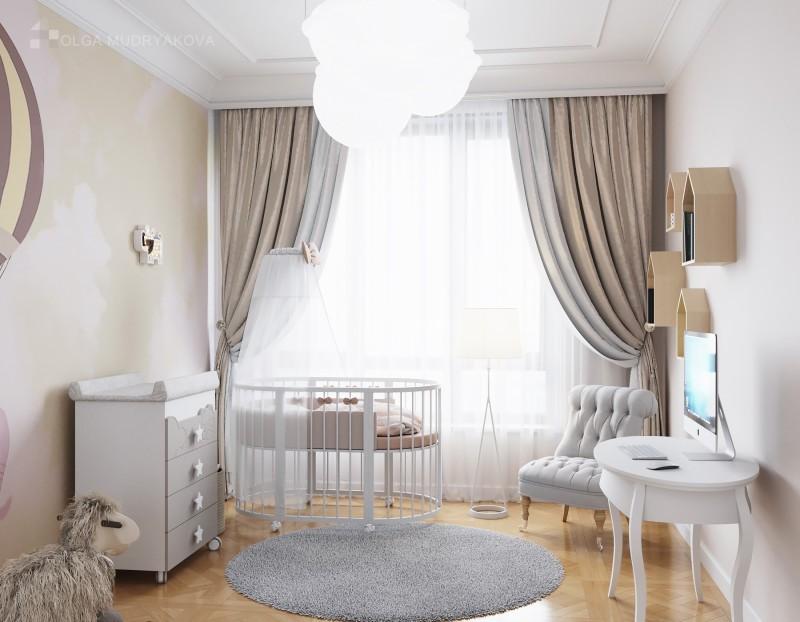 Дизайн детской комнаты с ковром