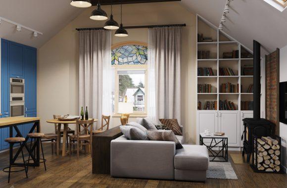 Дизайн кухни-гостиной дома