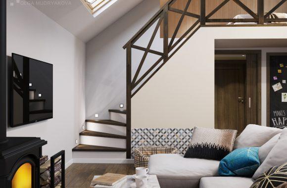 Дизайн двухуровневого дома