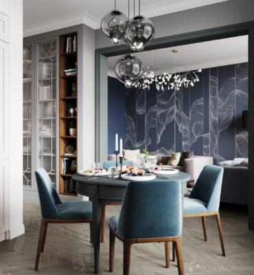 Кухня-гостиная в жк Стокгольм